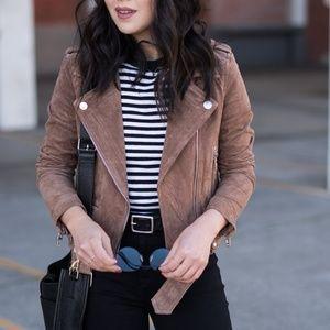 BlankNYC Morning Suede Moto Jacket